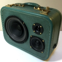 Boom Box Boom Suit Case Teel Traincase Speaker Traincase Rechargeable Bluetooth Suitcase