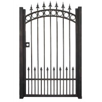 43 in. x 72 in. Metal Garden Gate Dark Bronze w/ 2 Posts Powder Coated
