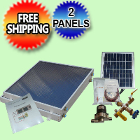 Complete 2 Panel EZ-Connect Solar Water Heater Kit - 077.0048