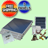 Complete 3 Panel EZ-Connect Solar Water Heater Kit - 077.0049