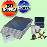Complete 4 Panel EZ-Connect Solar Water Heater Kit - 077.0050