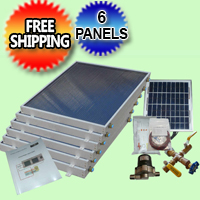 Complete 6 Panel EZ-Connect Solar Water Heater Kit - 077.0052