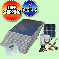 Complete 7 Panel EZ-Connect Solar Water Heater Kit - 077.0053