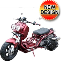 Brand New 2015 Redesigned Maddog 50cc Scooter with LED Lights