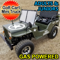 Mini Gas Golf Cart Custom Plus 125cc Mini jeep Vehicle Mini Truck - LIMITED Edition