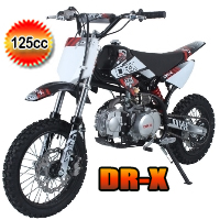 DR-X Roost 125cc Dirt Bike 4 Speed Manual Kick Start Pit Bike - ROOST (PAD125-1)