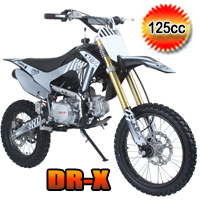 DR-X Whip 125cc Dirt Bike 4 Speed Manual Pit Bike - WHIP (PAD125-3)