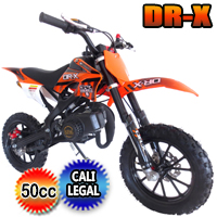 DR-X Holeshot 50cc Dirt Bike Fully Automatic Pit Bike - HOLESHOT (PAD50-1)