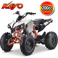 Kayo Jackal 200cc 4 Speed Manual w/Reverse Sport ATV 4 Wheeler - PAK200-1