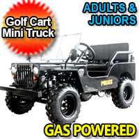 Mini Gas Golf Cart Police jeep Utility Vehicle Mini - LIMITED Edition