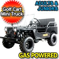 Mini Gas Golf Cart Police jeep Utility Vehicle Mini - LIMITED Edition