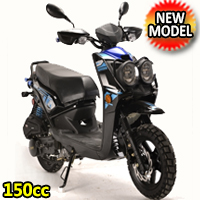 150cc Malibu Air Cooled 4 Stroke Moped Scooter - PMZ150-10