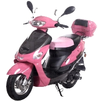 50cc Sporty Pink Panther Scooter Moped - (Extreme Blowout!)