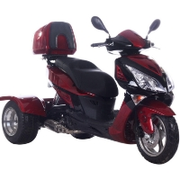 Brand New 150cc Hawk Air Cooled 4 Stroke Moped Trike Scooter