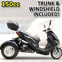 Trifecta 150cc Trike Scooter 4 Stroke Gas Trike Moped - PST150-2