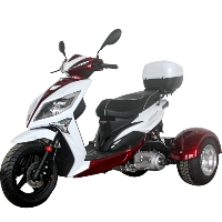 Mojo Magic 150cc Trike Scooter 4 Stroke Single Cylinder Gas Trike Moped - PST150-9