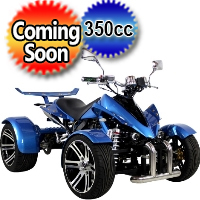 "350cc 4 Stroke Electric Start Manual w/ Reverse ATV & 14"" Aluminum Wheels - R350"
