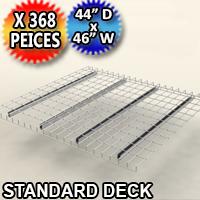 """Standard Mesh Deck 44""""d x 46""""w - 368 Piece Pack - 4446-BMEM-3QA40E"""