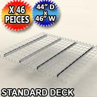 """Standard Mesh Deck 44""""d x 46""""w - 46 Piece Pack - 4446-BMEM-3QA40E"""