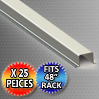 """Pallet Rack Support 44.375"""" x 2.0"""" x 1.625"""" Hat Shaped Style - Fits 48"""" Rack - 25 Piece Pack"""