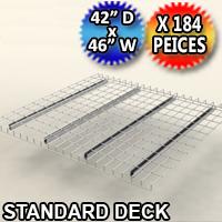 "Standard Mesh Deck 42""d x 46""w - 184 Piece Pack - C-ITC01-4246-G"