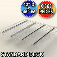 "Standard Mesh Deck 42""d x 46""w - 368 Piece Pack - C-ITC01-4246-G"