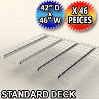 "Standard Mesh Deck 42""d x 46""w - 46 Piece Pack - C-ITC01-4246-G"