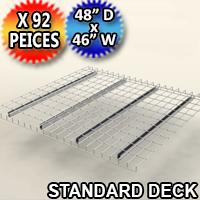 "Standard Mesh Deck 48""d x 46""w - 92 Piece Pack - C-ITC01-4846-G"