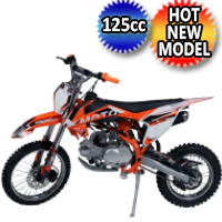 125cc Dirt Bike Manual Kick Start Pit Bike - XB-38 125