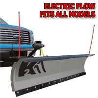 "Brand New 84"" K2 Storm Electric Snow Plow - Fits All Models"