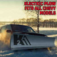 "Brand New 84"" Storm Electric Snow Plow - Fits All Chevy Models"
