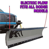 "Brand New 84"" Storm Electric Snow Plow - Fits All Dodge Models"