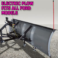 "Brand New 84"" Storm Electric Snow Plow - Fits All Ford Models"