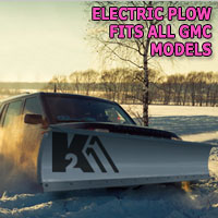 "Brand New 84"" Storm Electric Snow Plow- Fits All GMC Models"