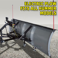 "Brand New 84"" Storm Electric Snow Plow - Fits All Hummer Models"