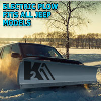 "Brand New 84"" Storm Electric Snow Plow - Fits All Jeep Models"