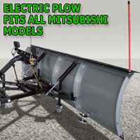 "Brand New 84"" K2 Storm Electric Snow Plow - Fits All Mitsubishi Models"