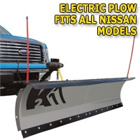 "Brand New 84"" K2 Storm Electric Snow Plow - Fits All Nissan Models"