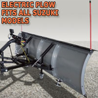 "Brand New 84"" Storm Electric Snow Plow - Fits All Suzuki Models"