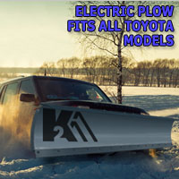 "Brand New 84"" K2 Storm Electric Snow Plow - Fits All Toyota Models"
