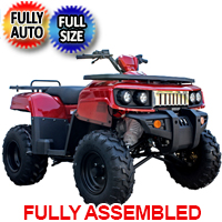 200cc Full Size Utility ATV Hummer Extreme Fully Automatic With Reverse