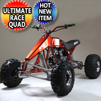 125cc Dragster Quad Atv Four Wheeler 3 Speed W/Reverse