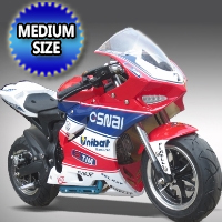 60cc 4-Stroke Gas Pocket Bike w/ Electric Start