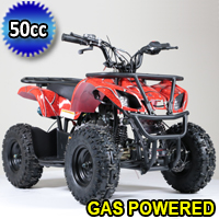 50cc Atv Gas Utility Quad With Electric Start & Throttle Limiter W/ 58cc Motor - Model 7B PLUS