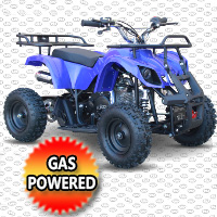 50cc Gas Utility Atv Quad With Electric Start & Throttle Limiter W/ 58cc Motor & Remote Kill- Model 7B