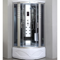 "Corner Shower Enclosure with 6 Massage Jets 36"" x 36"""
