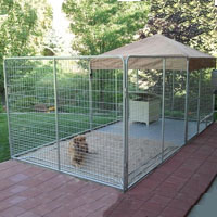 8' x 24' x 6'  Ultimate Modular Welded Wire Professional Kennel Dog Run