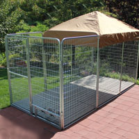 6' x 16' x 6'  Ultimate Modular Welded Wire Professional Kennel Dog Run
