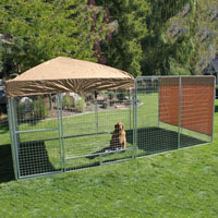 8' x 16' x 6'  Ultimate Modular Welded Wire Professional Kennel Dog Run with Canopy Cover