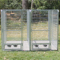4' x 6' x 6' Two Dog Multiple Modular Welded Wire Professional Kennel Dog Run